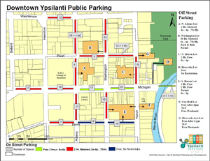 Downtown Ypsilanti Public Parking