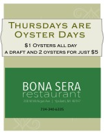 Thursday Oysters at Bona Sera