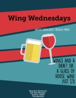 Wings Wednesday at Bona Sera